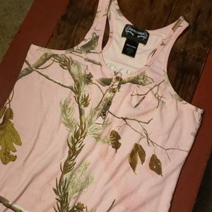 Realtree Pink Camo Button-up Tank